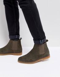 Base London Ferdinand Suede Chelsea Boots - Green