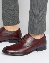 Base London Ford Leather Derby Shoes - Red