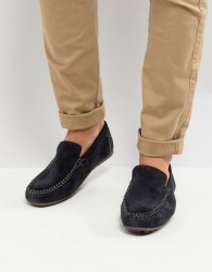 Base London Henton Suede Drivers in Navy - Navy