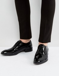 Base London Holmes Patent Oxford Shoes In Black - Black