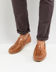 Base London Palmer Leather Loafers in Tan - Tan
