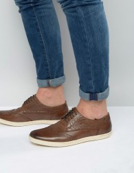 Base London Perform Oxford Brogue Shoes - Brown