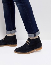 Base London Perry Suede Desert Boots in Navy - Navy