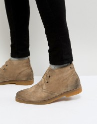 Base London Perry Suede Desert Boots in Stone - Stone