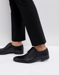 Base London Purcell Leather Brogue Shoes - Black