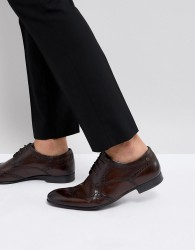 Base London Purcell Leather Brogue Shoes - Brown