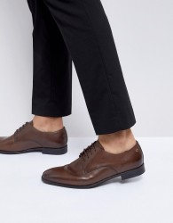 Base London Shilling Waxy Leather Derby Shoes - Brown