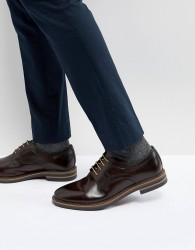 Base London Spencer Leather Derby Shoes - Brown