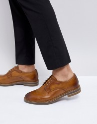 Base London Spencer Leather Derby Shoes in Tan - Tan