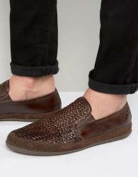 Base London Stage Woven Leather Shoes - Brown