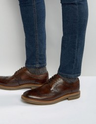 Base London Turner Leather Brogue Shoes - Brown