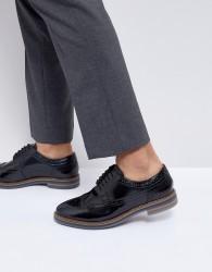 Base London Turner Leather Brogue Shoes in Black - Black