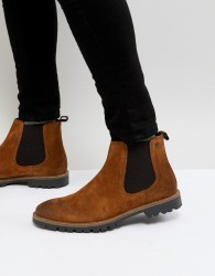 Base London Turret Suede Chelsea Boots in Tan - Tan