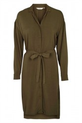 Basic Apparel - Kjole - Kenya Shirt Dress - Army