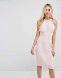 BCBGeneration Chiffon Contrast Dress - Pink