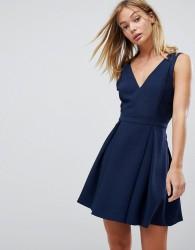 BCBGeneration Lace Mix Dress - Navy