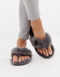 Bedroom Atheltics Keira thong slipper in grey - Grey