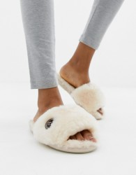 Bedroom Athletics Gemma sheepskin slider slipper - Beige