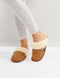 Bedroom Athletics Molly Double Faced Sheepskin Mule - Brown