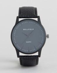 Bellfield Black Watch with Round Black Dial - Black