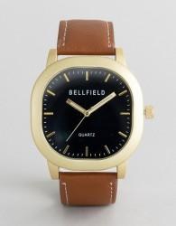Bellfield Brown Watch with Black Dial - Brown