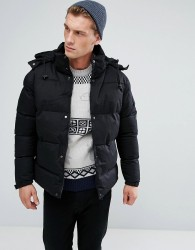 Bellfield Hooded Padded Jacket - Black