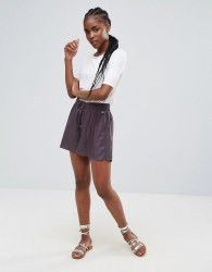 Bellfield Linum Lace and Ladder Shorts - Grey