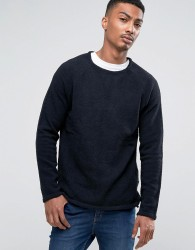 Bellfield Long Line Chanille Jumper - Black