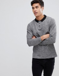 Bellfield Long Sleeve Polo - Grey