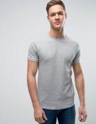 Bellfield Muscle Fit T-Shirt In Waffle - Grey