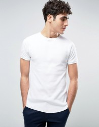 Bellfield Muscle Fit T-Shirt In Waffle - White