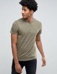 Bellfield Plain Jacquard T-Shirt - Green