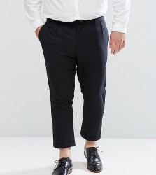 Bellfield PLUS Cropped Trousers With Pleated Front - Black