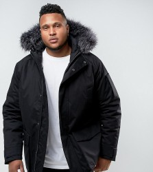 Bellfield PLUS Parka With Faux Fur Hood - Black