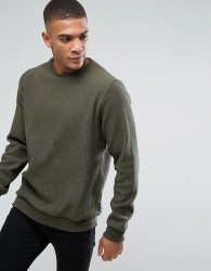 Bellfield Ribbed Sweatshirt - Green