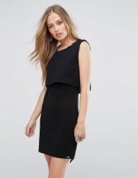 Bellfield Scilla Jacquard Layered Dress - Black