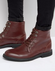 Bellfield Sigmar Leather Laceup Boots - Red