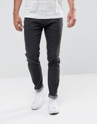Bellfield Skinny Jeans In Washed Black - Black