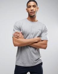 Bellfield T-Shirt With Drop Shoulder And Pocket - Grey