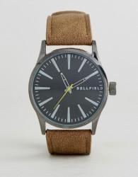 Bellfield Vintage Tan Watch With Black Dial - Tan