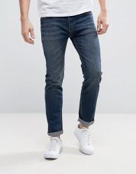 Bellfield Washed Indigo Skinny Jeans - Navy
