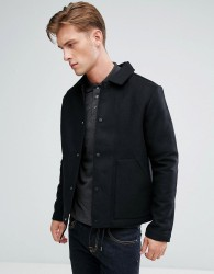 Bellfield Wool Blend Coach Jacket - Black