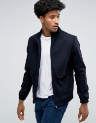 Bellfield Wool Blend Harrington - Navy