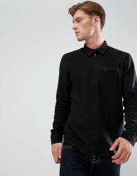 Bellfield Zip Through Shirt - Black