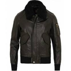 Belstaff Arne Shearling Aviator Leather Jacket Black