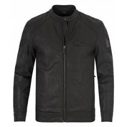 Belstaff Beckford Coated Stretch Denim Jacket Black