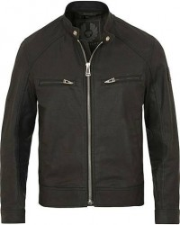 Belstaff Beckford Coated Stretch Denim Jacket Black