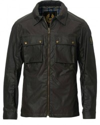 Belstaff Dunstall Waxed Jacket Faded Olive men S Grøn