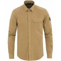 Belstaff Garment Dyed Twill Shirt Khaki