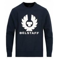 Belstaff Holmswood Logo Crew Neck Sweatshirt Navy